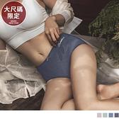 《VB0466》大尺碼限定-質感素色中腰生理褲 OrangeBear