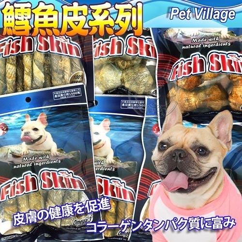 【培菓平價寵物網 】 Pet Village》Fish Skin鱈魚皮狗零食-100g/包