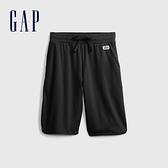 Gap男童 時尚網面繫帶運動短褲 664159-黑色
