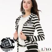 LIYO理優運動風條紋連帽外套L718002
