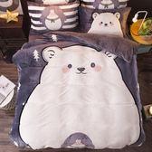 卡通珊瑚絨四件套冬季法蘭絨加厚法萊絨網紅床單被套床上雙面絨 igo
