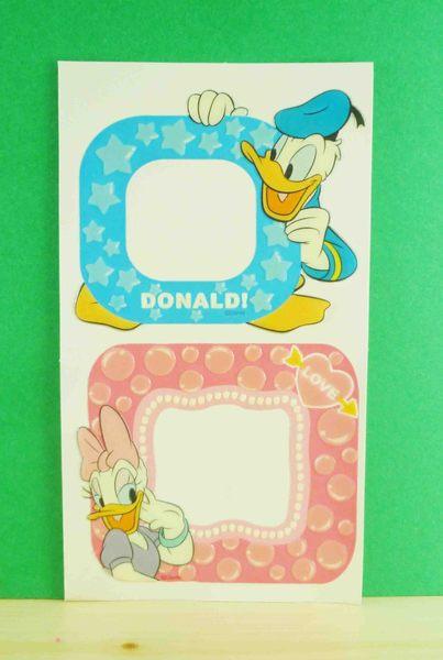 【震撼精品百貨】Donald_唐老鴨~相框貼-藍粉