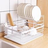 日式鐵藝餐具收納碗碟架多功能廚房置物架大容量瀝水碗架 【4-4超級品牌日】