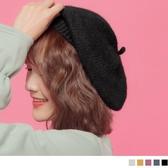 《ZB0493》藝術氣息毛料貝蕾畫家帽 OrangeBear
