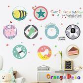 壁貼【橘果設計】圈圈相片 DIY組合壁貼 牆貼 壁紙 室內設計 裝潢 無痕壁貼 佈置