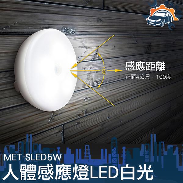 《儀特汽修》MET-SLED5W人體感應燈LED白光 衣櫃感應燈 感應夜燈 玄關燈 光控感應燈 感應燈