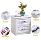 簡易床頭櫃簡約現代收納小櫃子儲物櫃北歐式臥室小型床邊櫃經濟型 小山好物