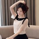 VK精品服飾 韓系雪紡衫雪紡短袖上衣