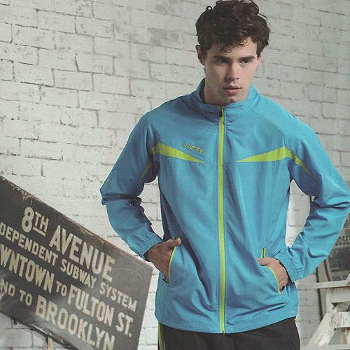 MILD STAR  男女平織網裡運動服套裝[全套]-水藍-JS700113+PW705503