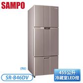 [SAMPO 聲寶]455公升 三門變頻系列-紫燦銀(R6) SR-B46DV