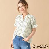 ❖ Hot item ❖ 小V領荷葉袖設計襯衫上衣 - Te chichi