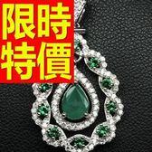 祖母綠寶石 項鍊+墜子14k金氣質新款-生日情人節禮物首飾53be14【巴黎精品】
