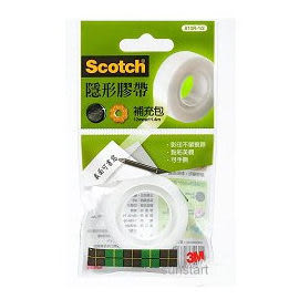 3M Scotch 隱形膠帶補充包810R-1/2