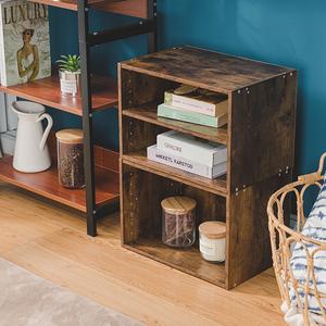 樂嫚妮 收納櫃 二層空櫃-2入組-仿木色仿木