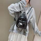 皮革後背包 後背包女2021春新款韓版潮百搭時尚休閒書包女士pu軟皮小背包女包 非凡小鋪