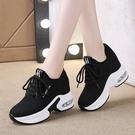 增高鞋女 新款內增高 厚底小黑鞋輕便跑步鞋氣墊運動休閒女鞋. 快速出貨