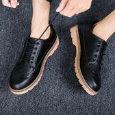 韓版防水防滑英倫風皮鞋男鞋馬丁鞋休閒鞋工裝鞋潮流鞋子 黛尼時尚精品