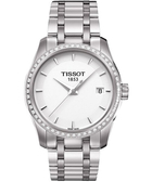 TISSOT 天梭 T-Trend Couturier Lady 時尚簡約鑽錶 T0352106101100