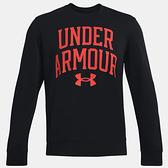 Under Armour UA Rival Terry 男裝 長袖 休閒 透氣 口袋 歐規 黑 紅【運動世界】1361561-002