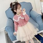 女童洋裝2020新款秋裝兒童網紅裙子潮小女孩長袖春秋公主裙洋氣 蘿莉新品
