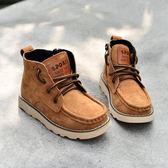 軍靴 靴子秋冬單靴韓版迷彩男童馬丁靴皮質寶寶短靴兒童皮靴潮【小天使】
