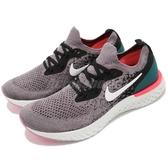 【五折特賣】Nike 慢跑鞋 Epic React Flyknit GS 灰 白 緩震回彈舒適 女鞋 運動鞋【ACS】 943311-010