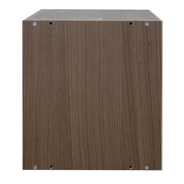 空櫃 收納櫃 木門櫃-附門 淺胡桃木色