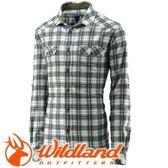 【Wildland 荒野 男 格子布保暖襯衫 橄欖綠】 0A22206/格紋襯衫/格子襯衫★滿額送