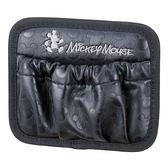 車之嚴選 cars_go 汽車用品【WD-211】日本 NAPOLEX Disney 米奇 本革調 手機袋 置物袋 收納袋