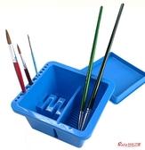 洗筆桶 美術水粉桶洗筆桶涮筆筒水彩水粉洗筆盒繪畫畫水桶國畫色彩顏料畫筆水桶