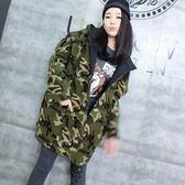 迷彩外套-韓版寬鬆休閒連帽兩面穿加厚女夾克71aj34[時尚巴黎]