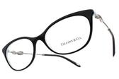 Tiffany&CO.眼鏡 TF2142B 8193 (黑-銀) 浪漫簡約流線款 # 金橘眼鏡
