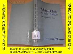 二手書博民逛書店Radiation罕見Effects in Solid Surf