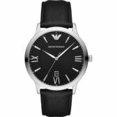 Emporio Armani Classic 亞曼尼經典質感時尚手錶-黑/43mm AR11210