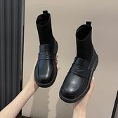小短靴女春秋單靴2020年新款英倫風瘦瘦鞋秋季馬丁靴子襪靴小皮鞋