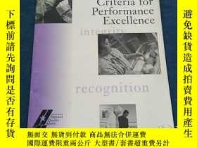 二手書博民逛書店Health罕見Care Criteria for Performance ExcellenceY223356