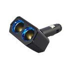 日本YAC 可90度調整LED冷光雙孔插座PZ-735 (汽車|擴充器|充電器)【亞克】