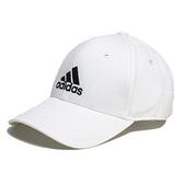 ADIDAS 白 刺繡黑 三線 老帽 基本款 (布魯克林) FK0890