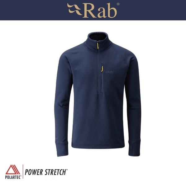 【RAB 英國 男 P/S Pro Pull-On 《深墨藍》】QFE62/運動上衣/透氣/吸濕排汗