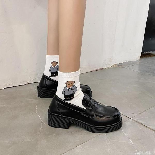 日系英倫小皮鞋學院風JK鞋子中跟制服鞋2021秋季新款瑪麗珍單鞋女 秋季新品