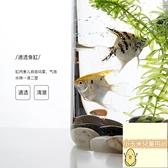 透明玻璃生態金魚缸圓形鵝卵石魚缸小型迷你透明玻璃金魚缸圓形【小玉米】
