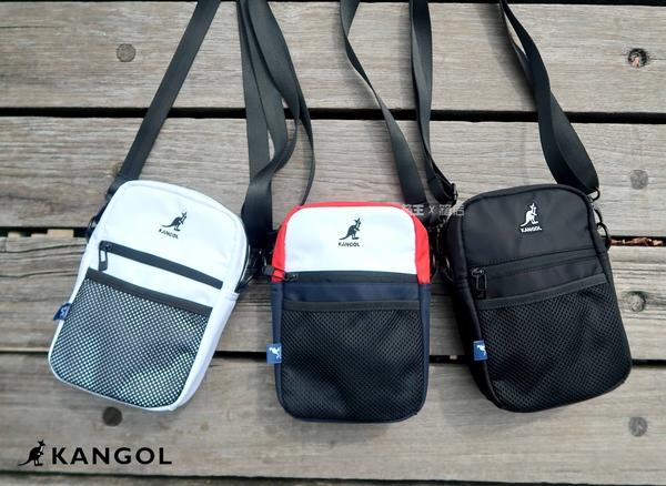 英國 KANGOL 袋鼠包 經典Logo刺繡 網袋包 小方包 側背包 斜背包 隨身小包 潮流小包 男女通用