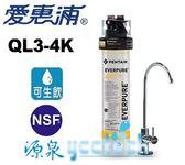 【愛惠浦公司貨】KDF長效型淨水器QL3-4KPLUS【搭載NSF認證鵝頭】【送全省安裝】