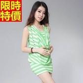 洋裝-夜店風精美裝飾清涼無袖設計連身短裙6色66q48[巴黎精品】