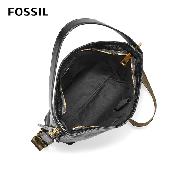 FOSSIL MAYA 真皮斜垮包-黑色 ZB6979001