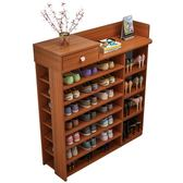 鞋架簡易多層鞋櫃家用經濟型置物架仿實木門口小鞋架子特價省空間
