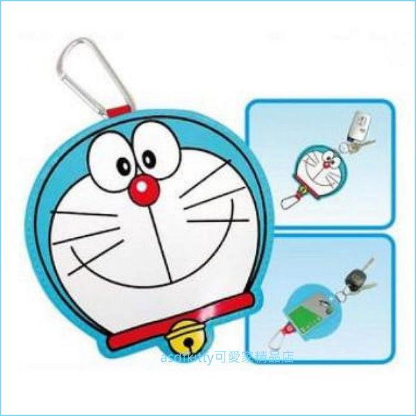 asdfkitty可愛家☆哆啦A夢頭型票卡夾鎖匙套/鑰匙圈/鑰匙包-日本正版商品