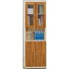 書櫃 書櫥 CV-626-1 安寶耐磨橡木2X6尺柚木四門書櫃【大眾家居舘】