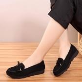 老北京布鞋女春秋單鞋軟底上班平底豆豆鞋女春秋一腳蹬女鞋春款 蘑菇街小屋