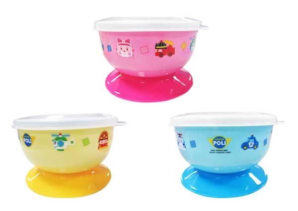 POLI 波力救援小英雄 幼兒不鏽鋼防滑吸盤碗/寶寶餐具 240ml